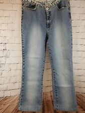 PARASUCO Ladies jeans Size 32 waistline rimmed with crystals!!! SWA1