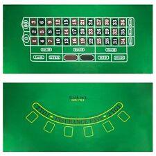 "Blackjack & Roulette Casino Gaming Table Felt Layout, 36"" x 72"""