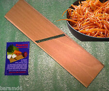 Grater for making of Korean Carrot Wooden Stainless Steel Russian made in Europa