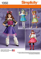 Simplicity sewing pattern 1350 K5 Childs Costume size 7 - 14 years