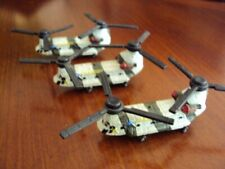 Lot of 3 Galoob Micro Machines CH-47 Chinook Military Helicopters