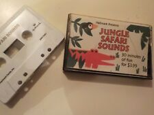 Jungle Safari Sounds CASSETTE Hallmark 1988 TESTED Good monkey bird tiger