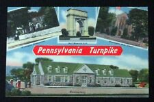 Vintage Linen Postcard The Pennsylvania Turnpike Unposted