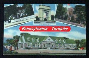 Vintage Linen Postcard The Pennsylvania Turnpike Unposted