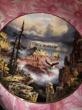 Danbury Mint Plate Where Eagles Soar 1993 God Bless America Series Grand Canyon