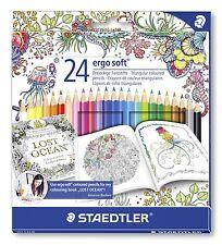 24 Staedtler ERGOSOFT® 157 Triangular Colouring Pencils/Johanna Basford/Vibrant