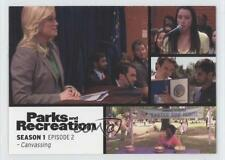 2013 Press Pass Parks and Recreation Seasons 1-4 #2 Canvassing Card 2a1
