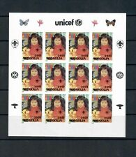 MONGOLIA ASIA COLLECTION CHILDREN UNICEF 7 SHEET PROOF SEE SCANS  LOT (T22)