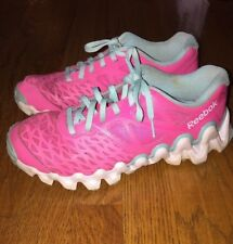 REEBOK Pink ZIGTECH LEATHER MESH WOMENS ATHLETIC RUNNING TENNIS SHOES SIZE 6