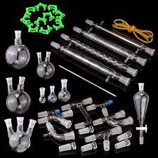 24/40 Top Series Advanced Organic Chemistry Lab Glassware Kit Clear Glass 36PCS