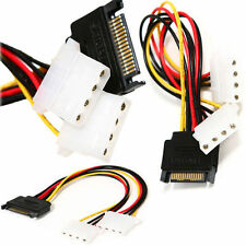 New 15 Pin SATA Male to Dual Molex 4 Pin IDE HDD Female Power Adapter Cable 1PC