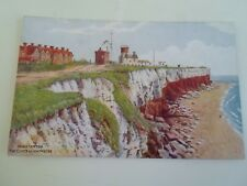 A R QUINTON Postcard 2457 Hunstanton The Cliffs+Lighthouse Unposted §A1805