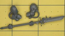 Warhammer 40K Space Marines Grey Knights Terminator Force Halberd & Arms (A)