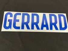 Official GERRARD Football Name Shirt Player Sporting ID ENGLAND Set Blue T242-8