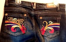 Womens COOGI  Jeans~ Sz 9/10 ~ Colorful Embroidery EUC!