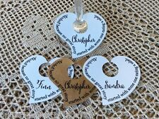10 Place Cards Gift Tags Wedding Favour Bomboniere Personalised Heart Wine Glass