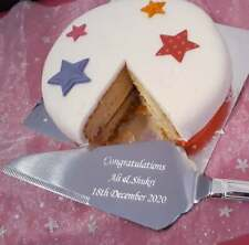 Personalised Engraved Stainless Steel Silver Cake Slice / Server - Baking Gift