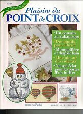 PLAISIRS DU POINT DE CROIX N°30 MOTIF HIVER / OIE RIDEAU / PORTES D'UN BUFFET