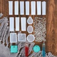 Crystal Silicone Mold Mould Resin Pendant Jewelry Making Tool DIY Set Craft E7H2