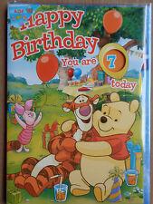 Disney Pooh/Puuh*Geburtstags-Karte + Umschlag*Alter einstellbar*3-9* Neu *OVP