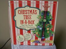 Christmas Paper Tree In A Box Table Topper Center Piece Decor Origami Kit UNUSED