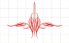 Pinstripe decal vinyl stickers motorcycle car truck tank fender red intricate