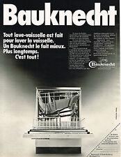PUBLICITE ADVERTISING 035  1973  BAUKNECHT  lave vaiselle