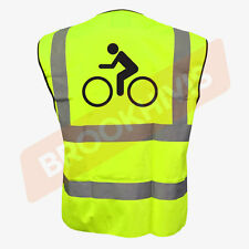 Cycling Hi Viz Vis Cycle Waistcoat Vest Tabard Road Safety Reflective Bike Rider 2xl Bike Shape