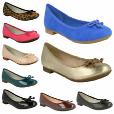Synthetic Leather Plus Size Ballet Flats for Women