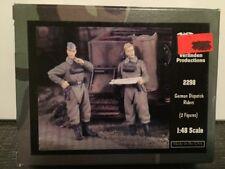VERLINDEN Productions German Dispatch Riders 2 Figures 1:48 Scale Item #2298