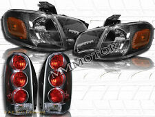 97-04 Chevy Venture /Silhouette Black Headlights + Corner Lights +  Tail Lights