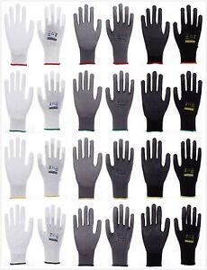 1-240 Paar Nylon Arbeitshandschuhe PU Handschuhe Montagehandschuhe