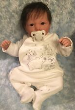 REBORN BERENGUER BABY BOY  DOLL ROOTED BROWN  HAIR