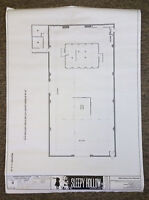 2013 Fox tv show SLEEPY HOLLOW set used BLUEPRINT~Season 1, Episode 9