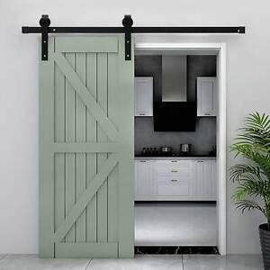 6FT/183cm Sliding Barn Wood Door Carbon Steel Closet Track Kit Hardware Kit UK