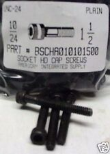 #10-24x1-1/2 Hex Socket Head Cap Screws Alloy Steel Black (30)