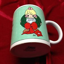 Precious Moments Coffee Mug Cup Surrounded With Joy Holiday Winter Xmas Wreath