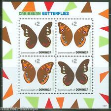 DOMINICA 2013  CARIBBEAN BUTTERFLIES SHEET OF FOUR PART I  MINT NH