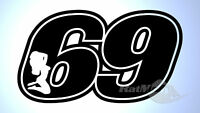 RACE NUMBERS SEXY 69 DECALS STICKERS GRAPHICS x3