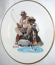 The Danbury Mint Norman Rockwell Catching The Big One Gorham Fine China Plate