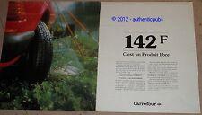 PUBLICITE DE 1983 CARREFOUR 142Francs SUPERMARCHE FRENCH PUB AD IMPACT