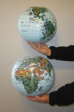 6 NEW INFLATABLE ANIMAL PRINT WORLD GLOBES BEACH BALL INFLATE EARTH MAP TEACHER