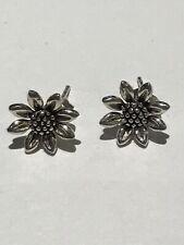 Sterling Silver Flower Stud Earrings Sunflower Daisy