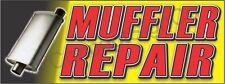 2x5 Muffler Repair Banner Outdoor Indoor Sign Auto Service Shop Exhaust Fix