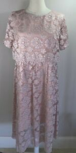 Made of Emotion - Pink Lace Dress - EUR XXL - Size 18 - New with Tags