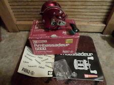 Abu Garcia Ambassadeur 5000 Reel Classic BEAUTIFUL! Box Papers 6000 3 Screw