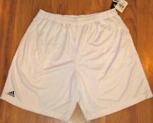 NEW adidas Men's Team Clima Pocket Short XXL 2XL WHITE E75003 SHORTS ACTIVE