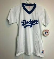 Vintage Dodgers Deadstock Rawlings 1980s Baseball Shirt Youth Large Made USA