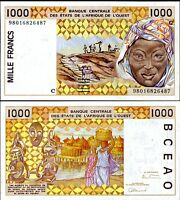 BURKINA FASO WEST AFRICAN STATE 1000 FRANCS 1998 P 311 C UNC