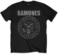 RAMONES Classic Presidential Seal Band Logo T-SHIRT OFFICIAL MERCHANDISE
